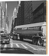 Traffic - New York In Perspective Series Wood Print