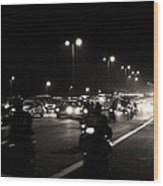 Traffic On Indian Roads Wood Print