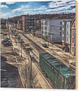 Traffic On Lincoln Street Wood Print