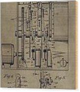 Traffic Signal Patent Wood Print