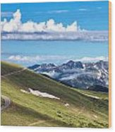Trail Ridge Road In Rocky Mountain National Park Wood Print