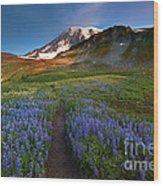 Trail To Majesty Wood Print