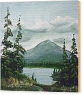 Trail To The Lake Wood Print