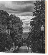 Trail To Town Wood Print