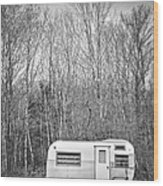 Trailer Wood Print by Diane Diederich