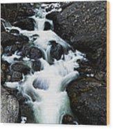 Trailhead Cascades Wood Print