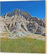 Trailhead For Saddle Pass Trail In Badlands National Park-south Dakota   Wood Print