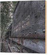 Train 8 Wood Print