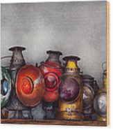 Train - A Collection Of Rail Road Lanterns  Wood Print