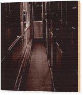 Train At Night Wood Print