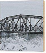 Train Bridge Over The Genesee River Wood Print