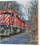 Train - Canadian Pacific Engine 5937 Wood Print