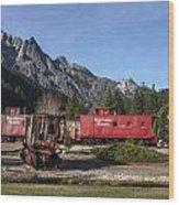 Train Car Motel At Rail Park In Dunsmuir Wood Print