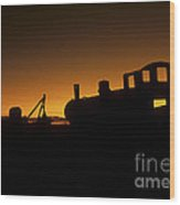Uyuni Train Cemetery Sunset Bolivia Wood Print