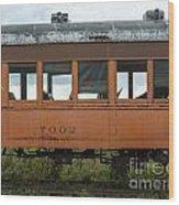 Train Coach Windows Wood Print