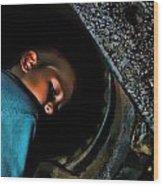 Train Coal Box 2 Wood Print