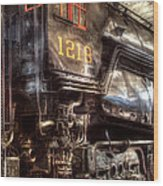 Train - Engine - 1218 - Norfolk Western - Class A - 1218 Wood Print by Mike Savad