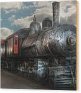 Train - Engine - 6 Nw Class G Steam Locomotive 4-6-0  Wood Print by Mike Savad