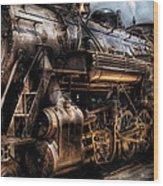 Train - Engine -  Now Boarding Wood Print