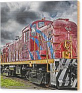 Train From The 60's Wood Print