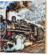 Train II Wood Print