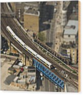 Train In London Wood Print