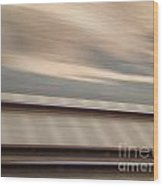 Train In Motion - On The Way To San Diego Wood Print