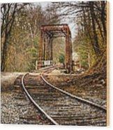 Train Memories Wood Print by Debra and Dave Vanderlaan