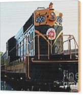 Train Museum - End Of The Line - Canadian National Railway Wood Print