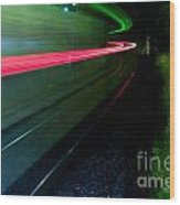 Train Pass By Wood Print