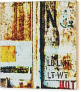 Train Plate 4 Wood Print by April Lee