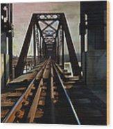 Train Rail Bridge  Wood Print