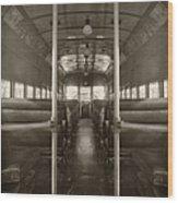 Train Ride Wood Print