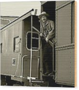 Train Robber Wood Print