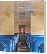 Train Seats Wood Print