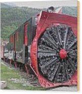 Train Snowplow Wood Print