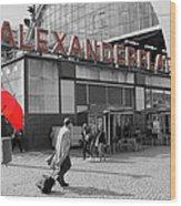 Train Station Alexanderplatz Wood Print
