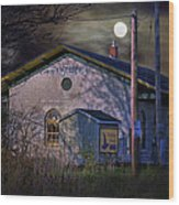 Train Station By Hmi Light Wood Print