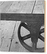 Train Station Cart Wood Print