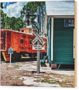 Train Station In Hdr Wood Print