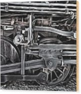 Train - The Wheels Are Turning  Wood Print