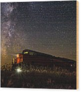 Train To The Cosmos Wood Print