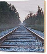 Train Tracks To Nowhere Wood Print