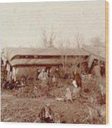 Train Wreck, 1890s Wood Print