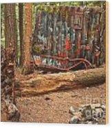 Train Wreck Along The Cheakamus River Wood Print