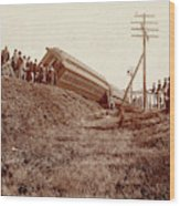 Train Wreck, C1900 Wood Print