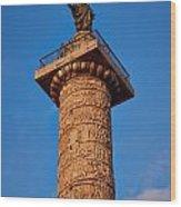 Trajans Column Wood Print