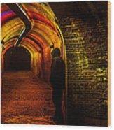 Trajectum Lumen Project. Ganzenmarkt Tunnel 9. Netherlands Wood Print