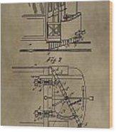 Tramway Fender Patent Wood Print