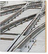 Tramway Track Construction Wood Print